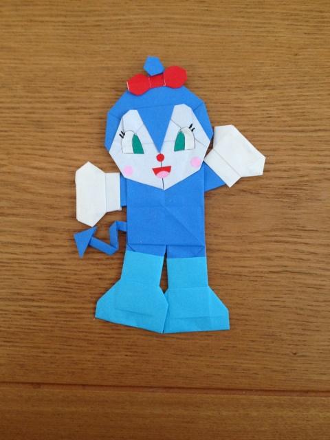 折り紙の:折り紙 バイキンマン-anpankurafuto.blog.so-net.ne.jp